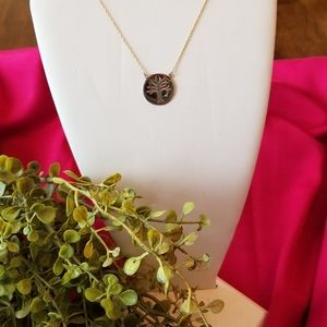 10k gold and Sterling tree of life neclace
